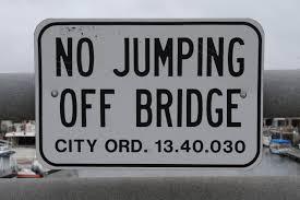 Bridge Jump Sign
