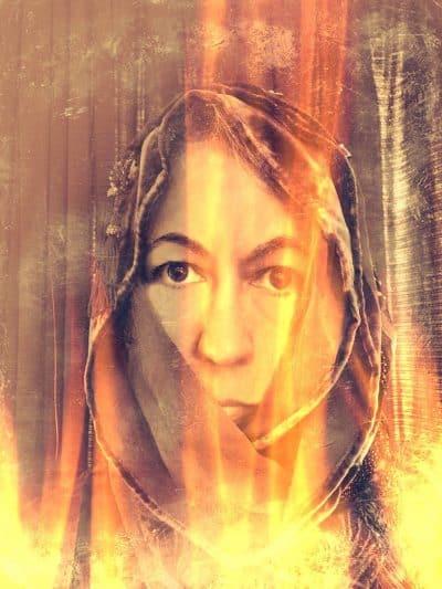 Hot Flashing Woman