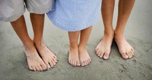 Grounding feet on the beach